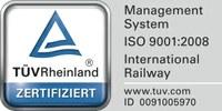neues TÜV Logo DIN  ISO9001:2008